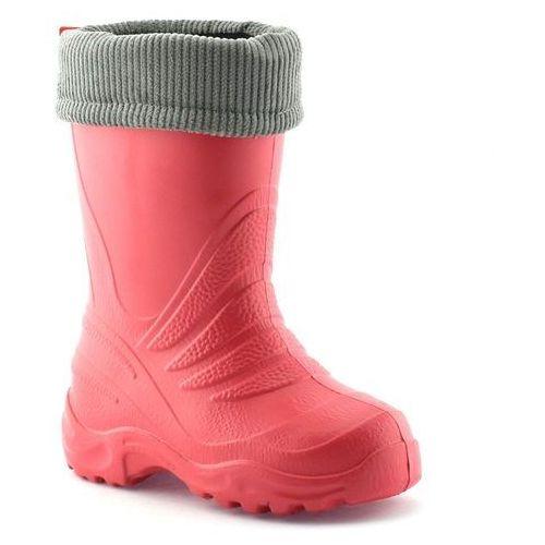 Kalosze dziecięce ocieplane Lemigo Termix 861 - Koralowy, kolor czerwony