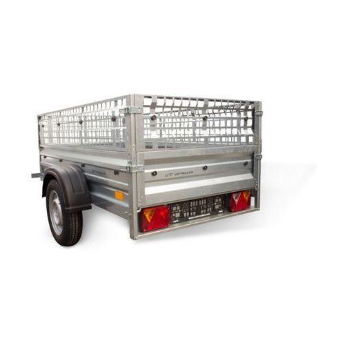 Unitrailer Przyczepa samochodowa 200 x 106 lekka z burtami siatkowymi dmc 750 kg garden trailer 200 (5903351204736)
