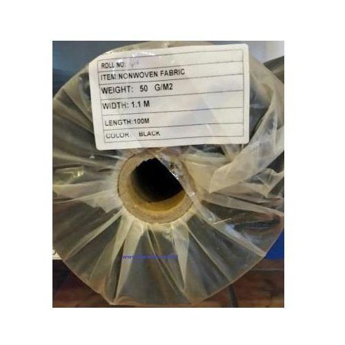 Agrowółknina ściółkujaca PP 50 g/m2 czarna 1,1 x 100 mb. BEZ UV.Rolka o wadze 8,6 kg. - oferta [058a457e87f516a5]