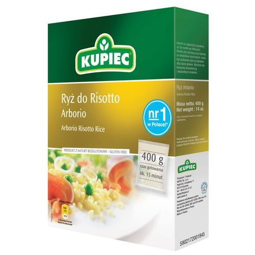 Ryż arborio do risotto 400 g Kupiec