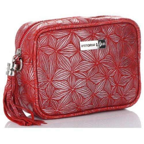 7ad293772853f Vittoria gotti Firmowe torebki skórzane modne listonoszki made in italy  czerwone (kolory) 169