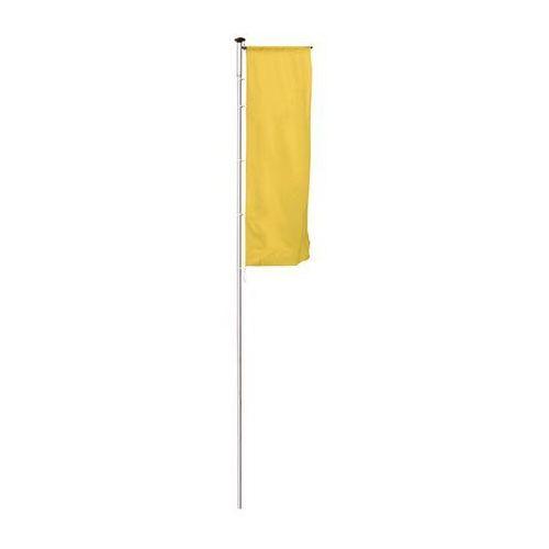 Maszt flagowy z aluminium PIRAT, z wysięgnikiem, wys. nad podłożem 7 m, Ø 75 mm.