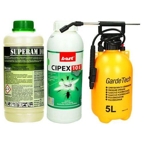 Oprysk przeciw komarom cipex 10e, utrwalacz 1l i opryskiwacz 5l. marki Best-pest