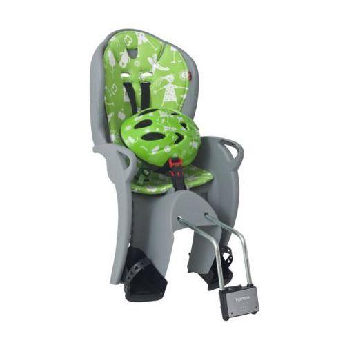 HAMAX Fotelik rowerowy Kiss set grey/green (7029775510890)