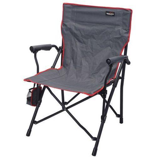 Składane krzesło wędkarskie, plażowe, ogrodowe z czerwonym obszyciem (8719202068603)