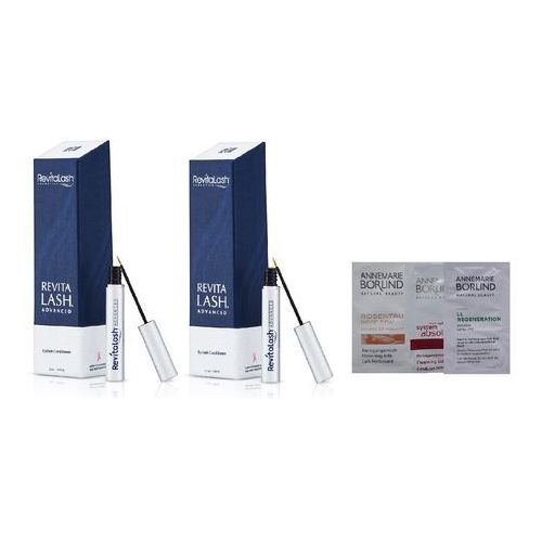 Revitalash  eyelash conditioner advanced zestaw | 2x odżywka do rzęs 3,5 ml + losowo dobrana próbka annemarie borlind gratis!