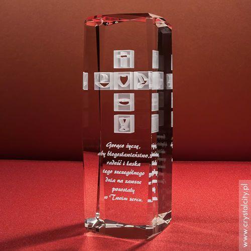 Krzyż 3D • personalizowana statuetka 3D wysoka • Pamiątka Chrztu, Komunii, Bierzmowania, Prymicji