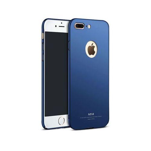 Msvii Etui thin case apple iphone 7 plus z wycięciem granatowe - granatowy