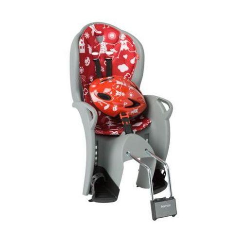 Fotelik HAMAX Kiss + kask czerwony-szary / Montaż: tył (7029775510586)