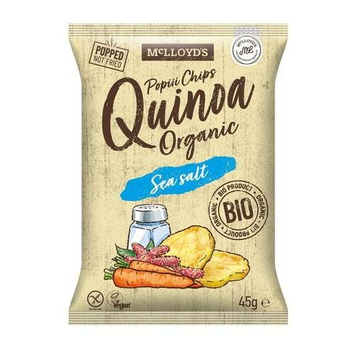 Cibi Chrupki z quinoa z marchewka i solą morską bezglutenowe bio 45 g mclloyd's