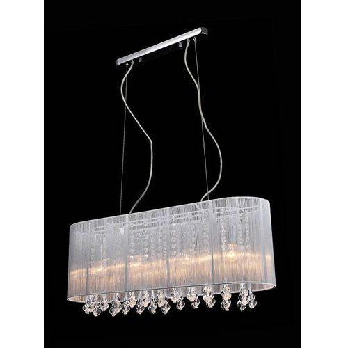 Żyrandol LAMPA wisząca ISLA MDM1870-4 WH Italux abażurowa OPRAWA kryształowa ZWIS glamour crystal biały (5900644349952)