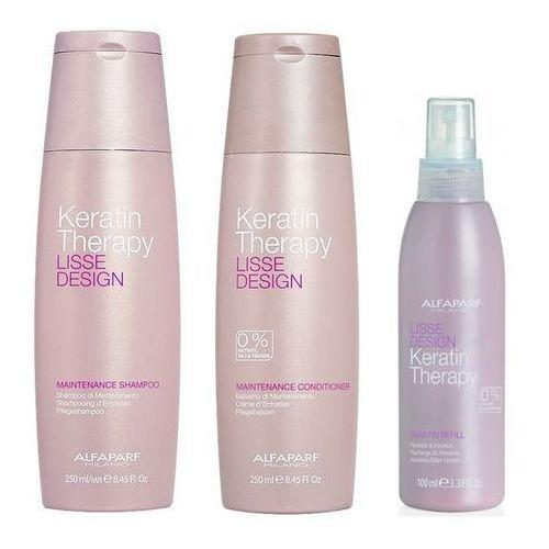 Alfaparf Keratin Therapy Maintenance | Zestaw podtrzymujący efekt wygładzenia: szampon 250ml + odżywka 250ml + mleczko 100ml