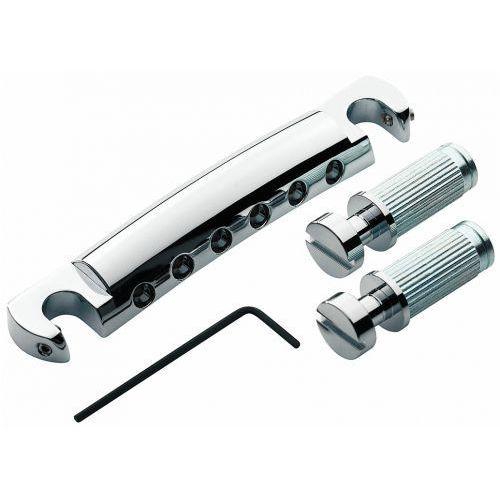 t1zsa-c - tailpiece, części mostka do gitary, chromowane marki Tonepros