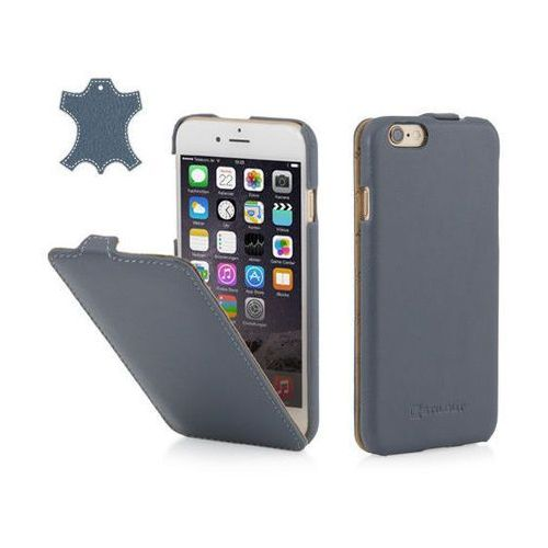 Stilgut Skórzane etui z klapką ultraslim - niebieskie (skóra nappa) - iphone 6 plus
