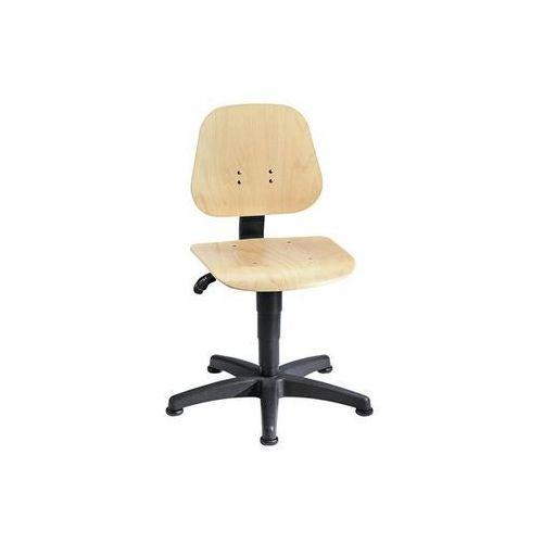 Obrotowe krzesło do pracy z regulacją wysokości sprężyną gazową,sklejka bukowa