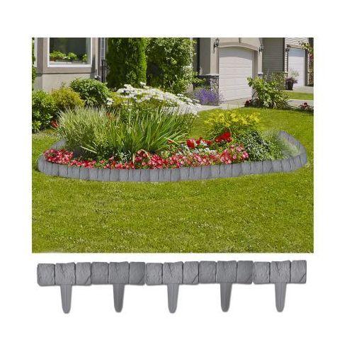 Ogrodzenie trawnika, 41 elementów, 10 m - sprawdź w VidaXL