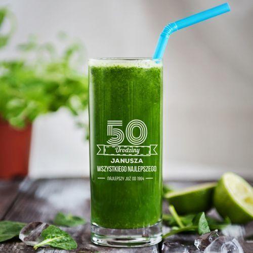 Wszystkiego najlepszego - grawerowana szklanka do drinków - szklanka marki Mygiftdna