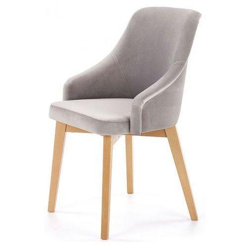 Krzesło drewniane altex 2x - popiel + dąb miodowy marki Elior.pl