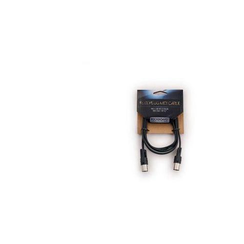 Rockboard flax plug midi cable, 100 cm / 39 1/8″, black