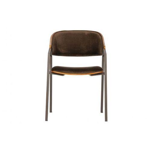 krzesło do jadalni clan aksamit brązowy 800028-b marki Be pure