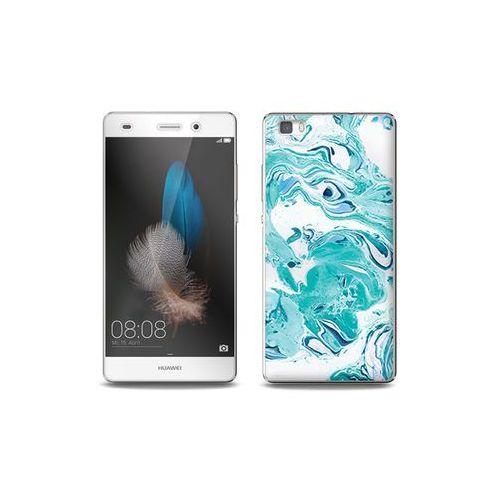 Huawei P8 Lite - etui na telefon Full Body Slim Fantastic - niebieski marmur, kolor niebieski