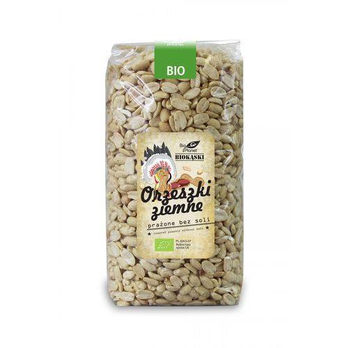 Bio planet - seria biokąski (przekąski) Orzeszki ziemne prażone bez soli bio 1 kg - bio planet (5902605414075)