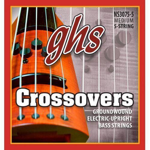GHS Crossovers - Electric Upright struny do gitary basowej, 5-str. Regular,.047-.127