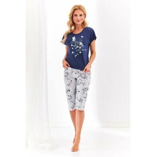 Bawełniana piżama damska TARO 2369 Agnieszka granatowa, kolor niebieski