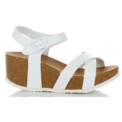 ca55ed959bd11 Modne buty damskie na koturnie renomowanej marki białe (kolory) marki Ideal  shoes 99,00 zł Stylowe buty na koturnie uwielbianej firmy Ideal Shoes.