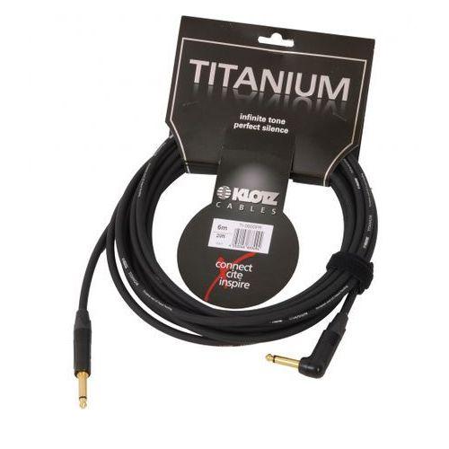 Klotz TI 0600 PR Titanium kabel gitarowy 6m, jack kątowy