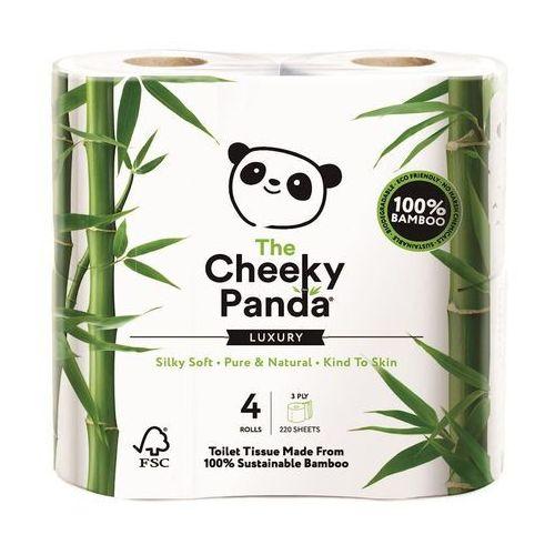 Papier toaletowy bambusowy trzywarstwowy 4 rolki w folii - Cheeky Panda
