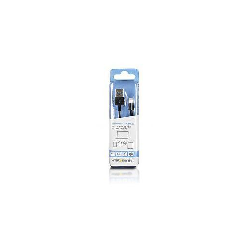 Kabel do przesyłu danych, wtyczka usb 2.0 na iphone 5, czarny od producenta Whitenergy