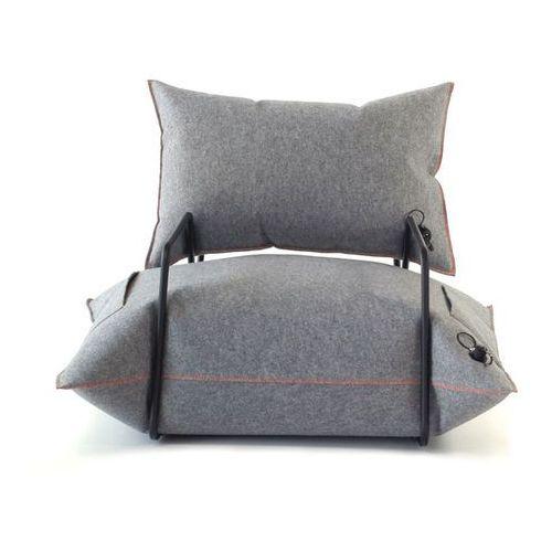 Fotel Wełna & Powietrze Szary Z podłokietnikami z kategorii fotele