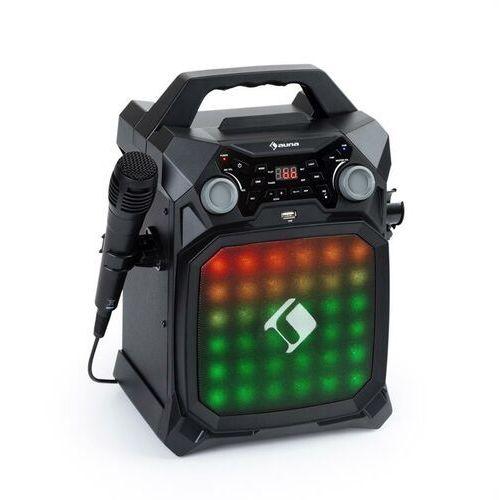 Auna Rockstar LightShow, sprzęt karaoke, bluetooth, USB, Line-In/Out, 2 x 6,3mm, czarny (4060656156663)