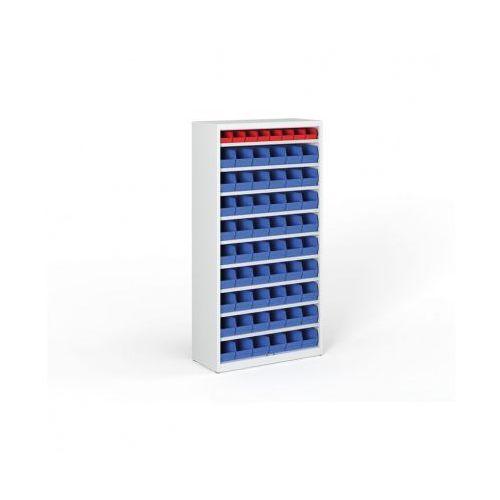 B2b partner Regał z plastikowymi pojemnikami - 1800x920x300 mm, 54x b, 8x a