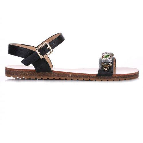 Ideal shoes Sandały damskie czarne