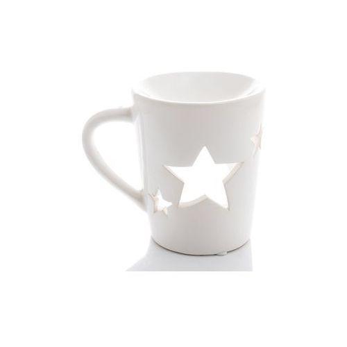 Kominek na olejek wosk biały w kształcie kubka marki Home