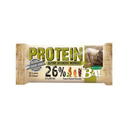 ba! 45g baton proteinowy 26% best before intensive workout marki Bakalland