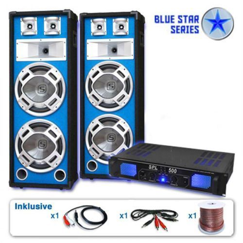 "Electronic-star zestaw pa z serii blue star ""bassveteran"" 1600 wattów (4260195339774)"