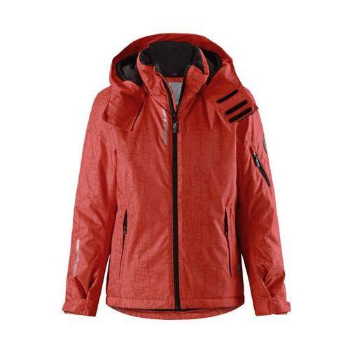 Reima Kurtka narciarska  reimatec® detour płomienna czerwień (flame red) z wzorem (6416134703740)