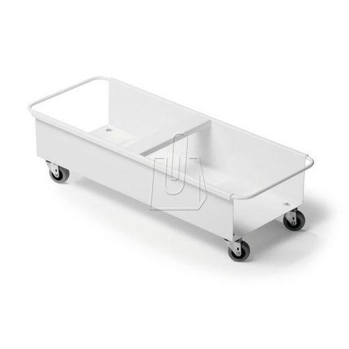 Durable Wózek trolley duo na dwa pojemniki na śmieci durabin square 40 biały 180