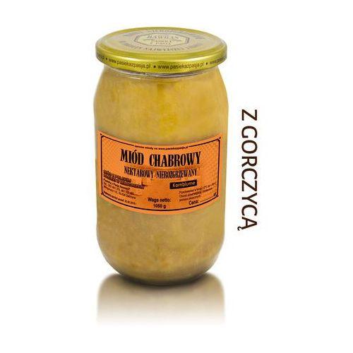 Miód chabrowy z gorczycą 1050 g marki Pasieka z pasją hawran paweł