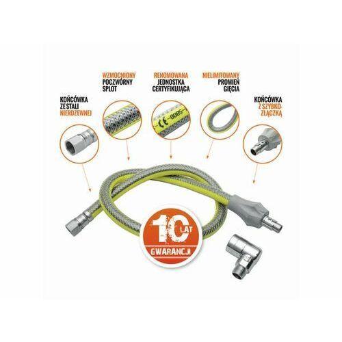 Przewód gazowy LECHAR FPG1-Z-1/2X200 L2.00 (Z zaworem odcinającym) + Zamów z DOSTAWĄ JUTRO! + DARMOWY TRANSPORT! (5903111149208)