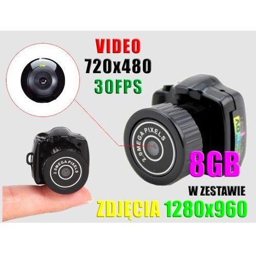 NAJMNIEJSZA UKRYTA KAMERA SZPIEGOWSKA +APARAT +8GB (kamera monitoringowa)
