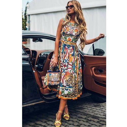 Sukienka ISABEL, kolor wielokolorowy