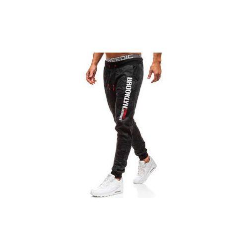Spodnie męskie dresowe joggery moro-czarne denley kk513 marki J.style