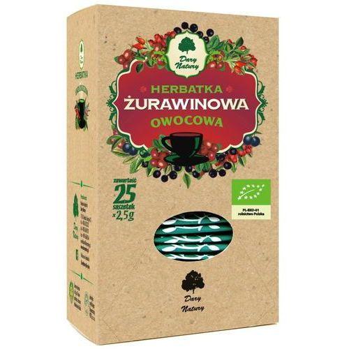 HERBATKA ŻURAWINOWA BIO (25 x 2,5 g) - DARY NATURY, DN910