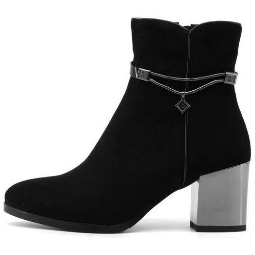 buty za kostkę damskie 38 czarny marki Laura biagiotti