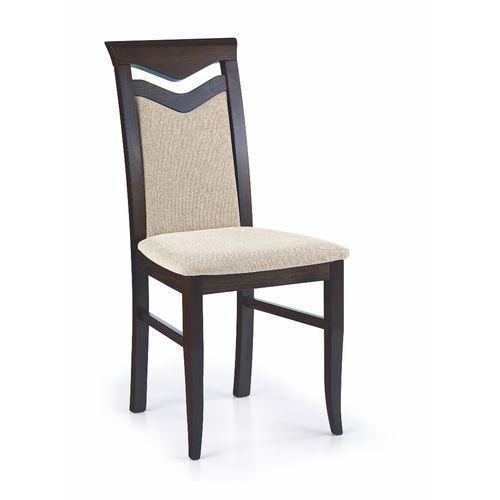 Krzesło drewniane HALMAR CITRONE wenge / Vila 2
