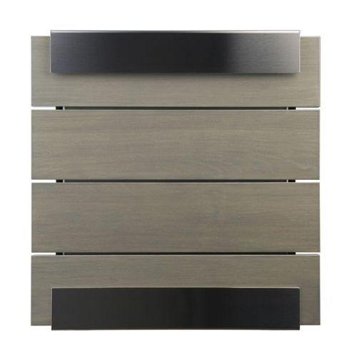 Skrzynka na listy Keilbach Glasnost Wood szara - produkt dostępny w All4home